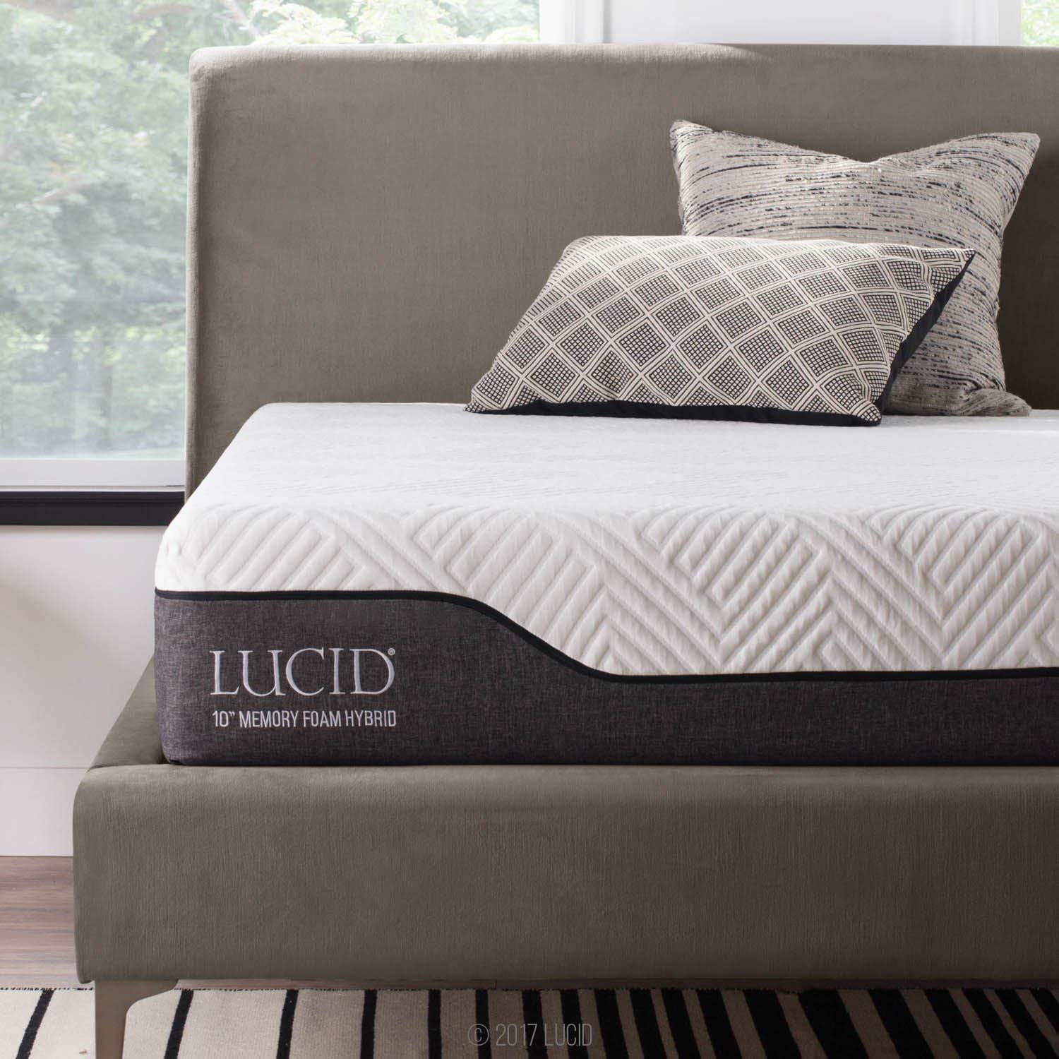 LUCID Memory Foam Hybrid Mattress Review
